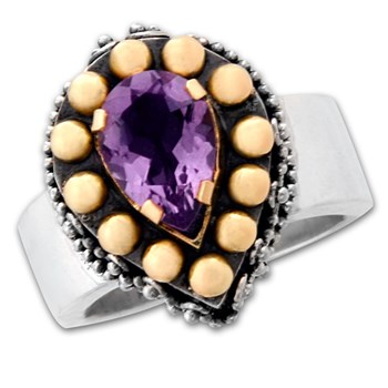 Teardrop Amethyst Ring-334832