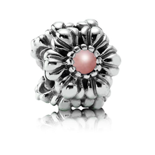 340551-PANDORA Birthday Bloom October with Pink Opal Charm RETIRED LIMITED QUANTITIES!