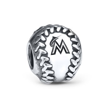 346619-PANDORA Miami Marlins Baseball Charm RETIRED ONLY 1 LEFT!