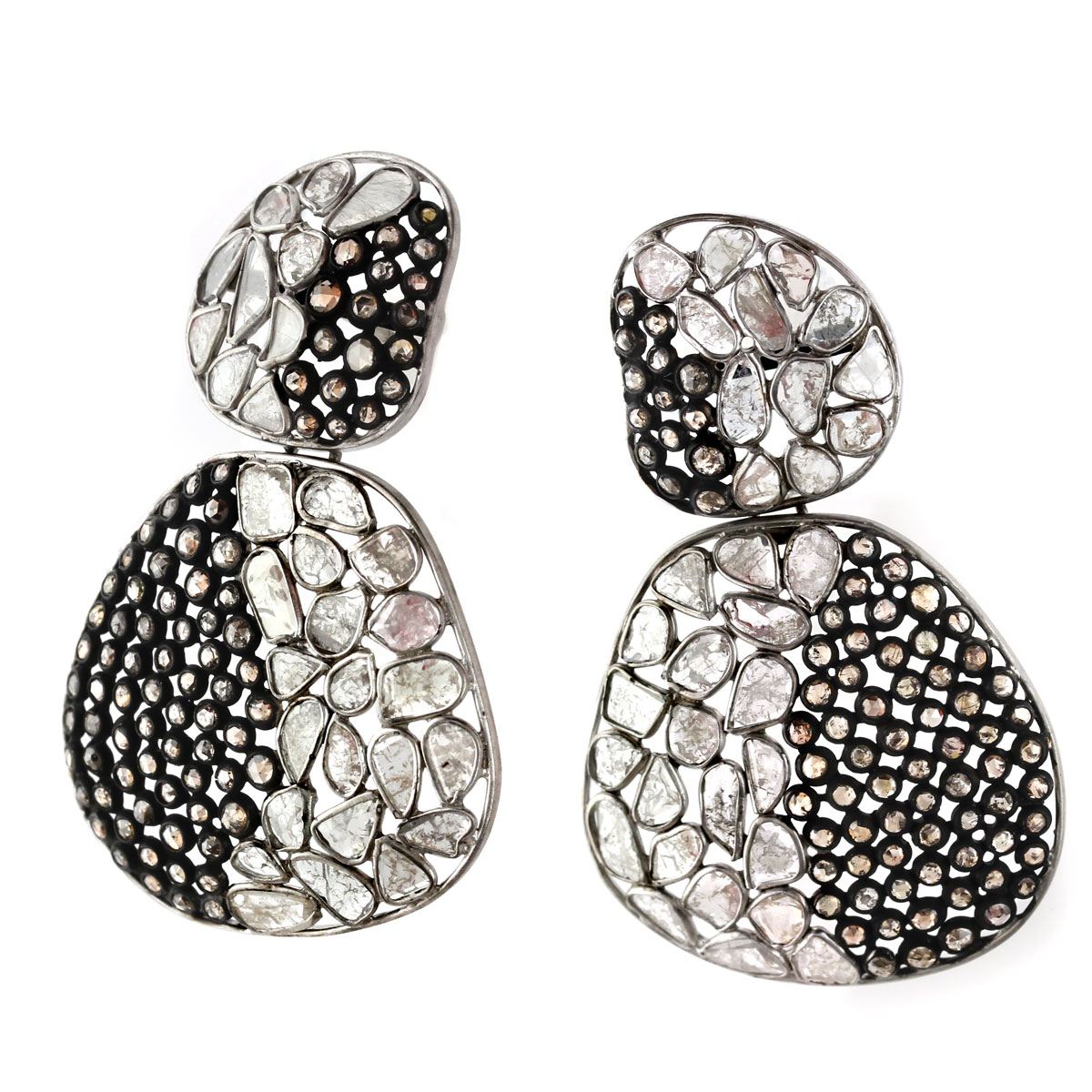 341250-Raw Diamond Earrings