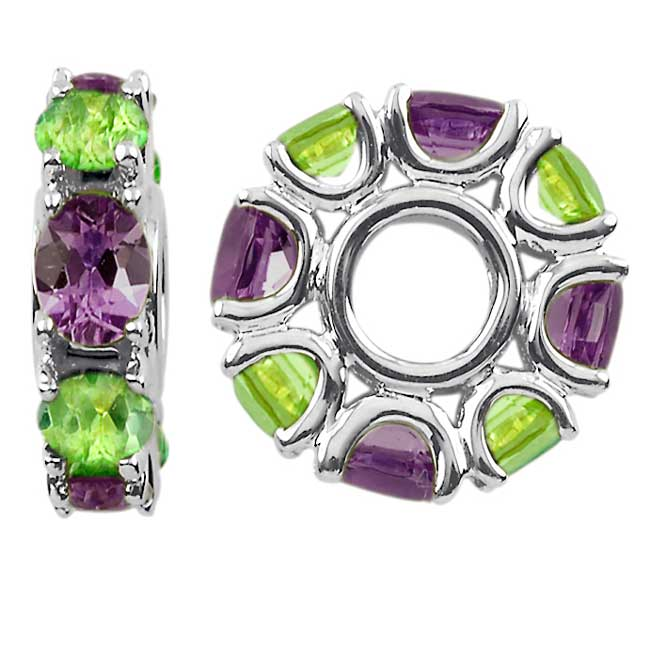 336716-Storywheels Amethyst & Peridot Sterling Silver Wheel