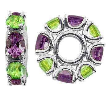 336716-Storywheels Amethyst & Peridot Sterling Silver Wheel ONLY 1 LEFT!