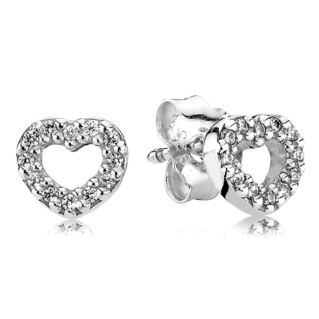 342087-PANDORA Be My Valentine with Clear CZ Stud Earrings