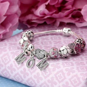 1214-PANDORA Love You Mom Bracelet