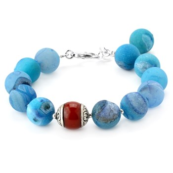 346103-Lollies Blue Drusy Bracelet