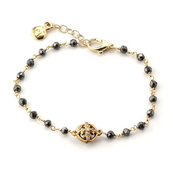 348529-Pyrite Maltese Cross Bracelet