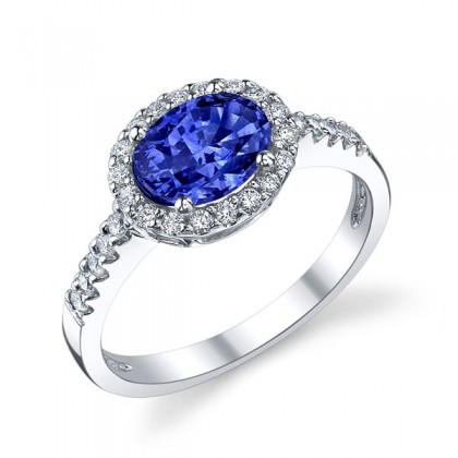347590-Blue Sapphire 14KT White Gold Ring