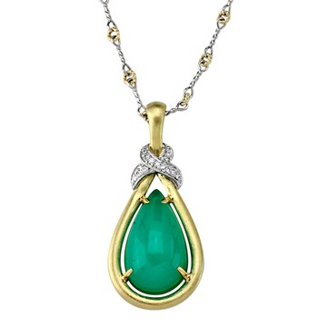 Chrysoprase Pendant Necklace-344996