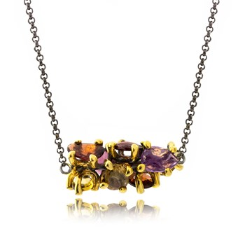 Multi-Color Pendant Necklace-655-3418