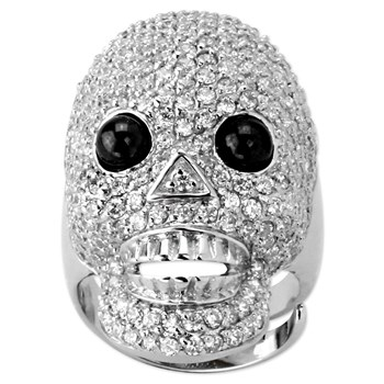 Clear Skull Bling Ring