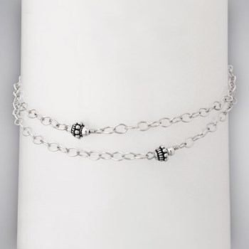 335943-Sterling Silver Double Anklet