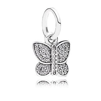 PANDORA Sparkling Butterfly with Clear CZ Pendant RETIRED