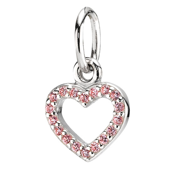 336603-PANDORA Be My Valentine with Pink CZ Stories Pendant RETIRED ONLY 5 LEFT!