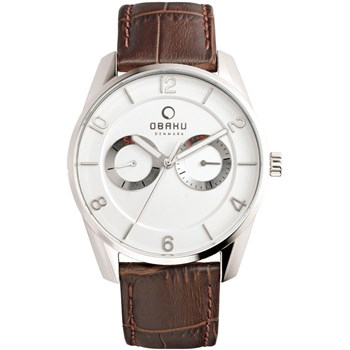 Men's Brown Leather Watch-505-4
