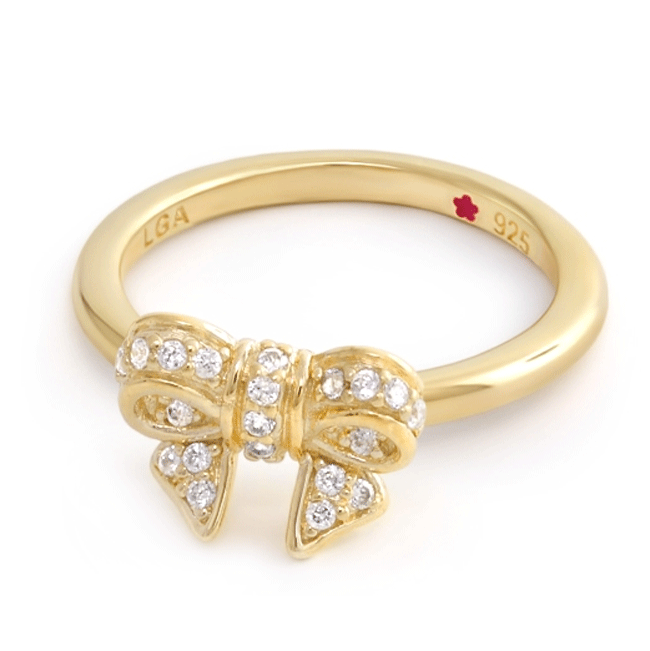 343949-Yellow Gold 'Layers of Love' Bow Ring