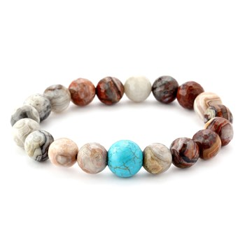 346336-Laguna Lace Agate and Turquoise Bracelet