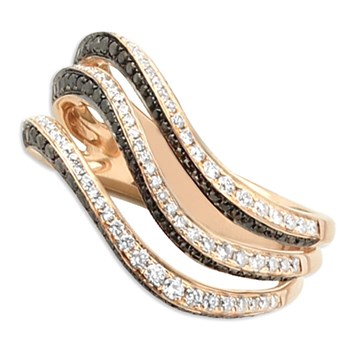 Wavy Diamond Ring-348317