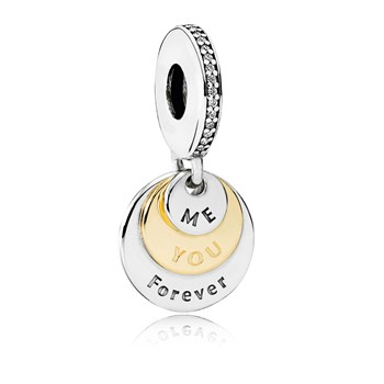 PANDORA You & Me Forever with Clear CZ Dangle