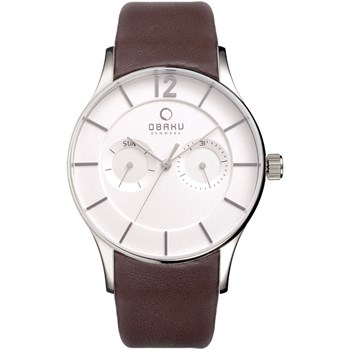 505-6-Men's Brown Leather Watch