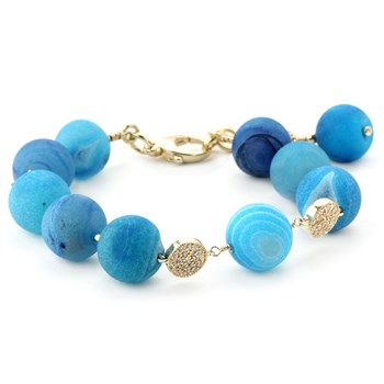 Lollies Blue Drusy Bracelet 344596