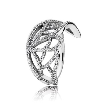 PANDORA New Beginning Butterfly with Clear CZ Ring RETIRED