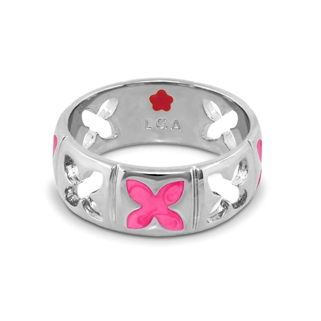 342440-Pink 'Floral Knight' Ring