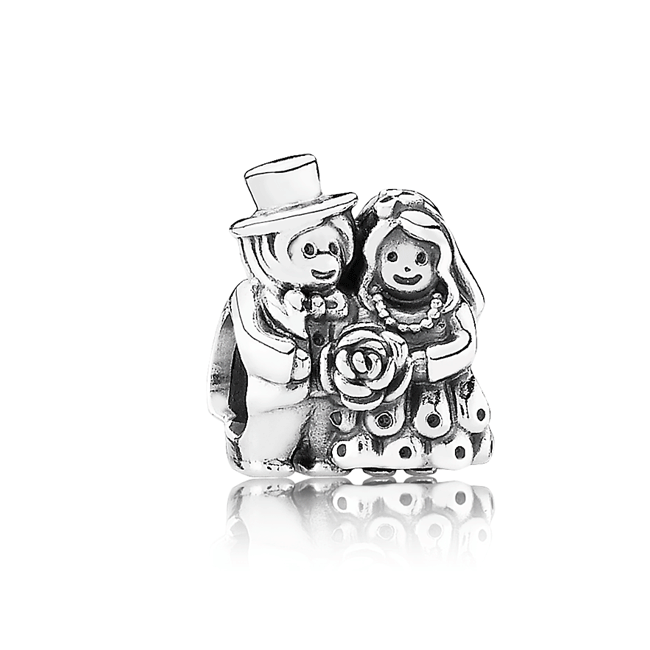 342924-PANDORA Mr. & Mrs. Wedding Charm