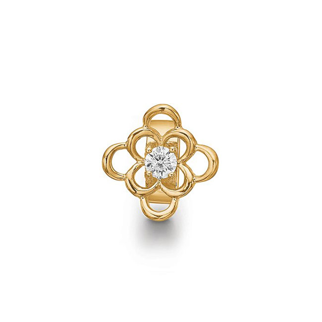STORY by Kranz & Ziegler Gold-Plated Anemone Ring Button PRE-ORDER