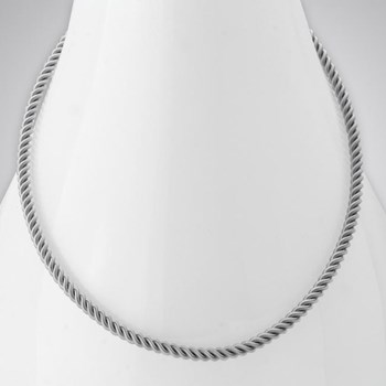343286-SS Small Twist Necklace ONLY 5 LEFT!