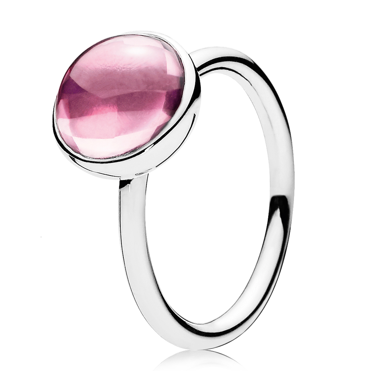 PANDORA Poetic Droplet Pink CZ Ring