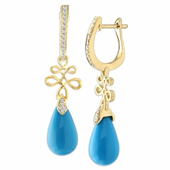 Turquoise Eloise Earrings-348301