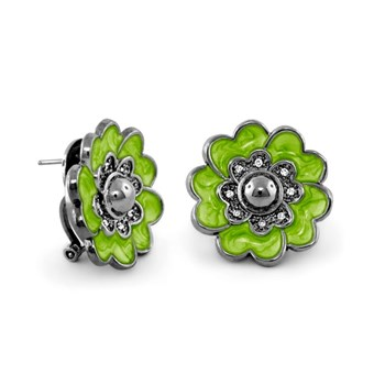 Green 'Queen of Hearts' Earrings-342398