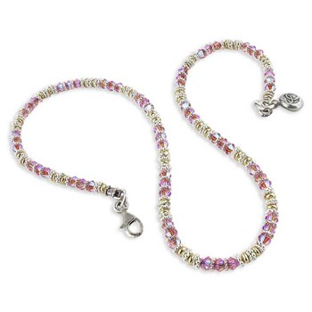 4mm Breast Cancer Awareness Crystal Necklace-175395