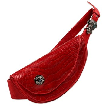 Red Crocodile Fanny Pack-321976