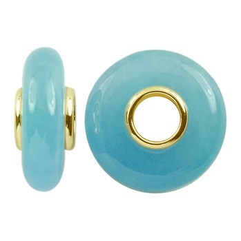 Storywheels Dyed Blue Jade 14K Gold Wheel-291729