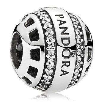 802-3096-PANDORA Forever PANDORA with Clear CZ Charm