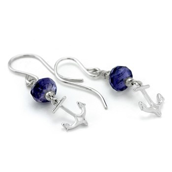 210-669-Iolite Anchor Earrings