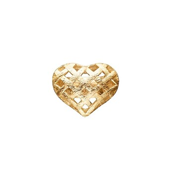 STORY by Kranz & Ziegler Gold-Plated Celtic Heart Button
