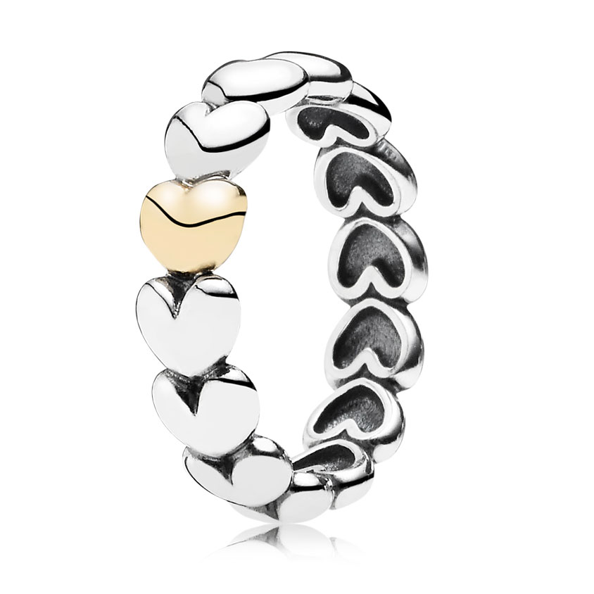 PANDORA My One True Love with 14K Stackable Ring