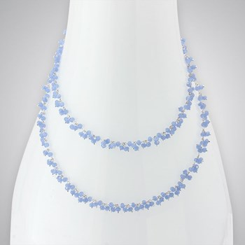 Lavender Chalcedony SS Necklace
