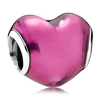 PANDORA In My Heart with Violet Enamel Charm