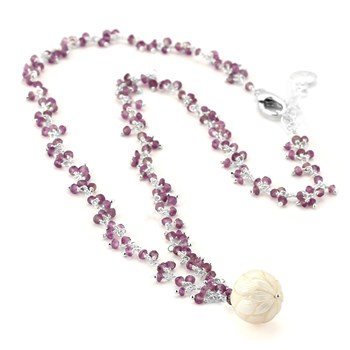 Pearl & Amethyst Necklace-347613