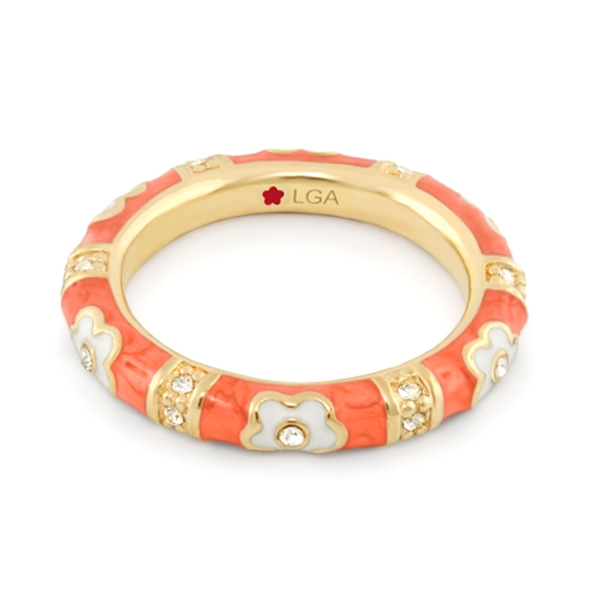 Coral 'Daisy Love' Ring