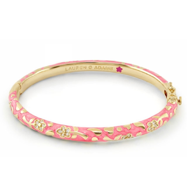 343758-Pink 'Flowers By Orly' Bangle