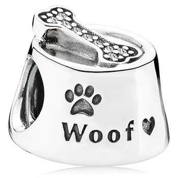 PANDORA Woof with Clear CZ Charm-802-3033