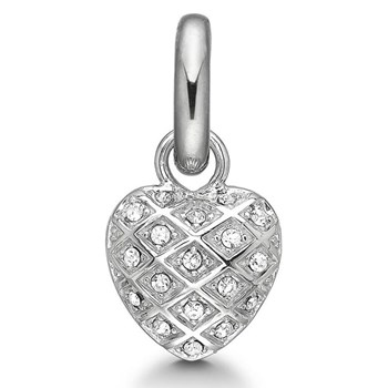 STORY by Kranz & Ziegler Silver Harlequin Heart Charm-345792