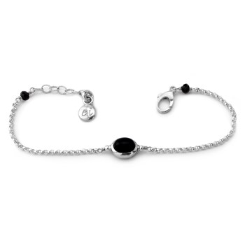 Onyx and Sterling Silver Bracelet