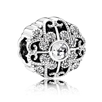 PANDORA Fairytale Bloom with Clear CZ