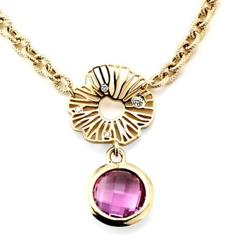 Amethyst and Diamond Necklace-235-646