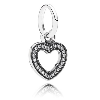 347074-PANDORA Symbol of Love Heart with Clear CZ Pendant